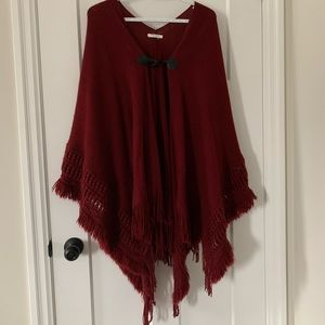 Maurices Red Plus Size Poncho